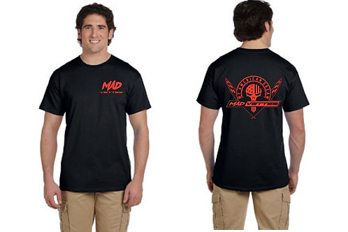 Black T-Shirt with Red MAD Logo