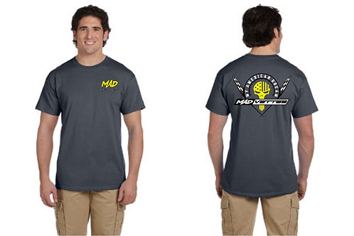 Gray T-Shirt withYellow & White MAD Logo