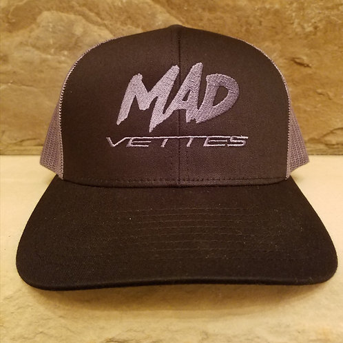 Black/Gray Mesh MAD Vettes Hat