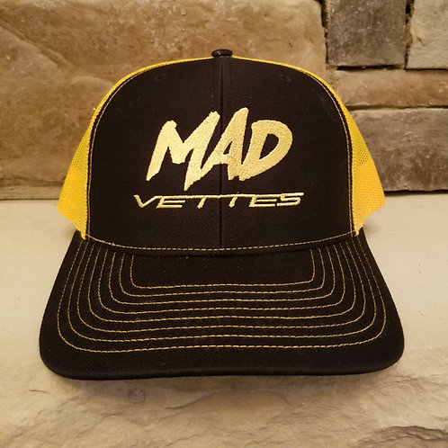 Black/Yellow MAD Vettes Hat