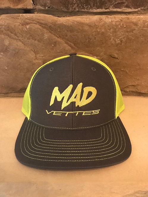 Charcoal/HighViz Yellow Mesh MAD Vettes Hat