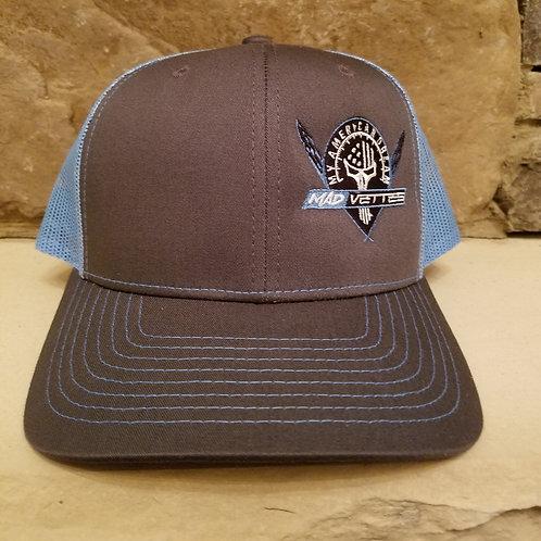 Charcoal/Columbia Blue MAD Logo Hat