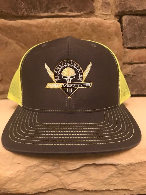 Fitted Mesh Graphite/Neon Yellow MAD Logo