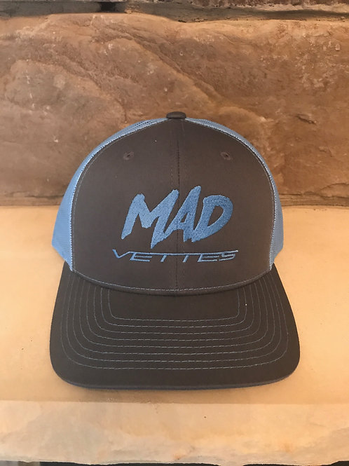 Charcoal/Columbia Blue Mesh MAD Vettes Hat
