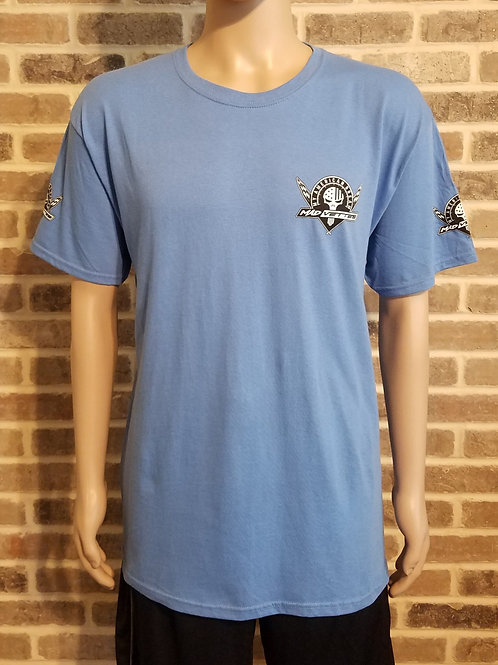 Light Blue T-Shirt with Black & White MAD Vettes Logo