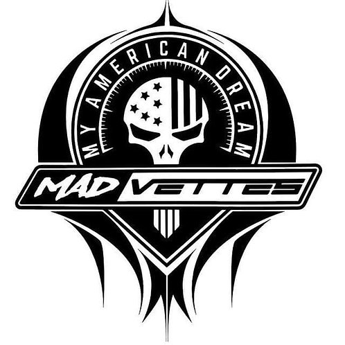 MAD Vettes - Black & White Decal
