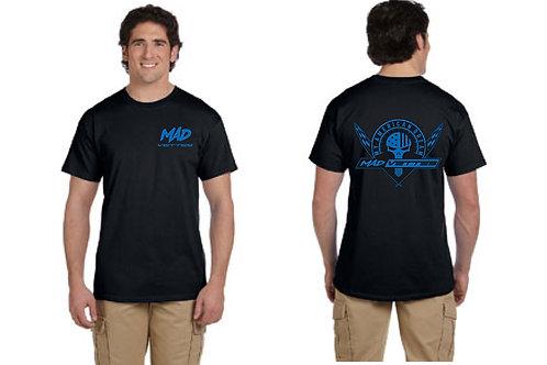 Black T-Shirt with Royal Blue MAD Logo