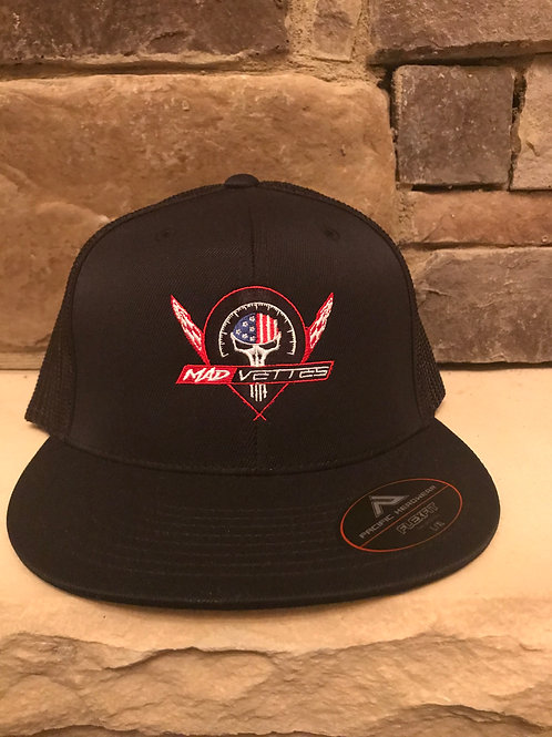 Fitted Mesh Black/Black MAD Vettes Logo