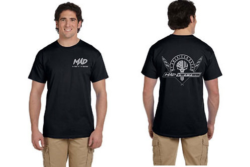 Black T-Shirt with Silver MAD Logo