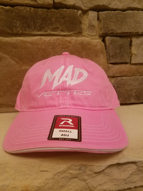 Twill Pink/White MAD Vettes Hat