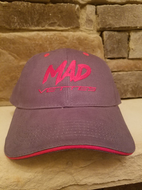 Brushed Twill Graphite/Red MAD Vettes Hat