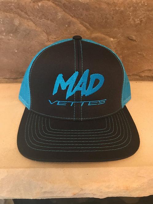 Black/Neon Blue MAD Vettes Hat