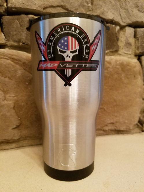 Stainless RTIC 30 oz. Tumbler with MAD Vettes/My American Dream Decal