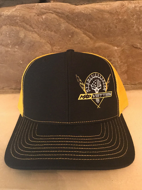 Black/Yellow Mesh Hat MAD Vettes/My American Dream Logo