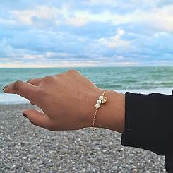 Face à la mer, bracelet nacre