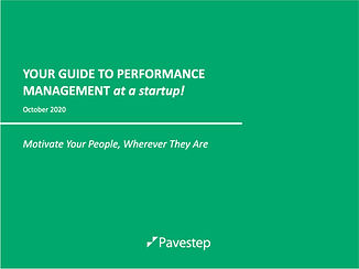 Performance Management for startup