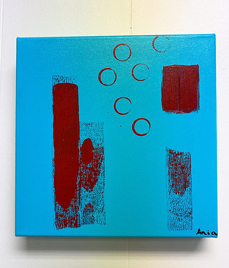 """In Love with Turquoise No.3; 12x12"""""""