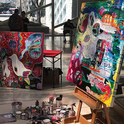 Live painting today at Edmonton City Hal