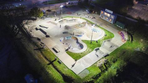 Night Drone Hereford Skatepark