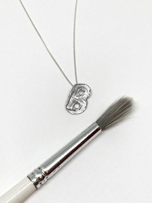 Brushstroke Alphabet Necklace