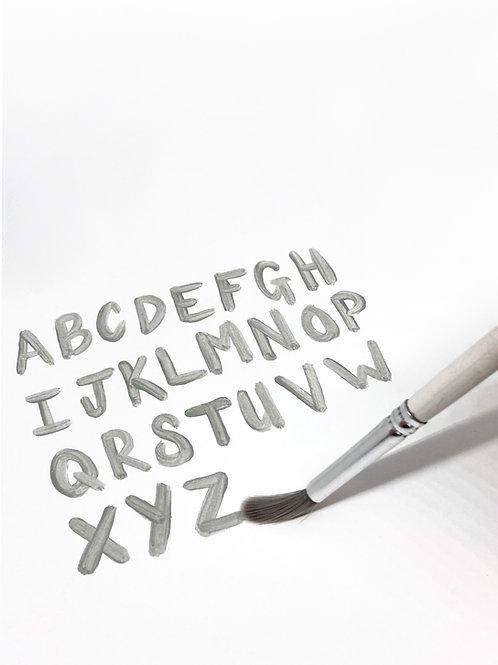 Individual Brushstroke Letter