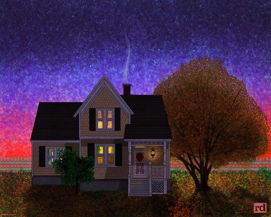 Evening farmhouse