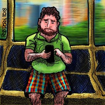 Man on Train