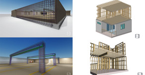 BIM Management and Modelling of a residential project in Los Angeles, California, USA.
