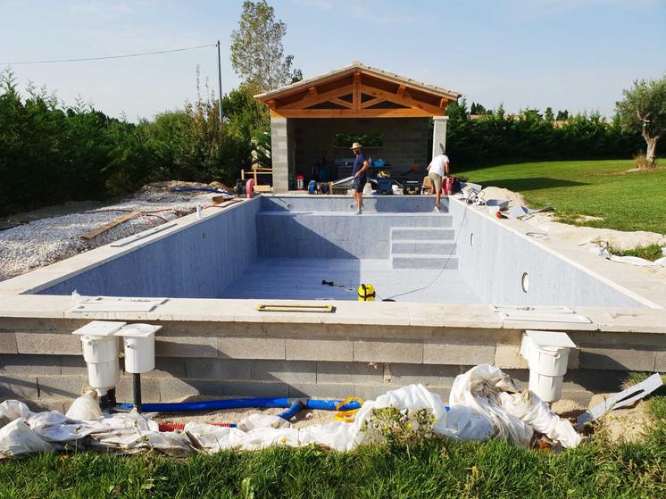 Rénovation liner dans le Gard #1