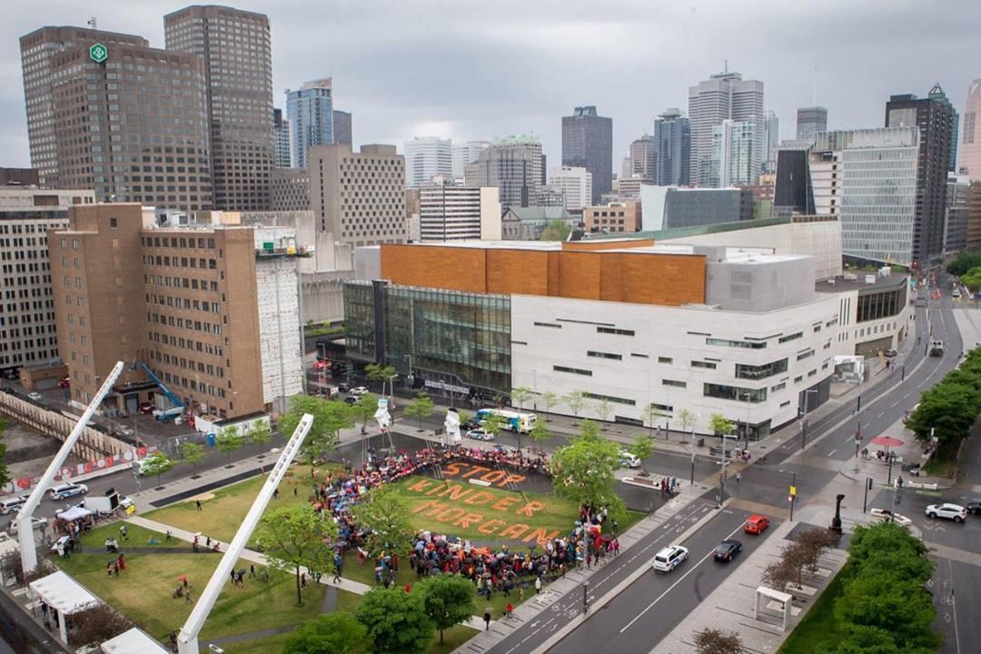 27 mai 2018 - Montréal : La lutte contre le pipeline de Kinder Morgan s'intensifie d'un océan à l'autre du Canada