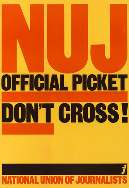 David King, NUJ Official Picket, National Union of Journalists, 1978