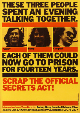 David King & Judy Groves/Proletcult, Scrap the Official Secrets Act!, Aubrey Berry Campbell Defence Committee, 1977
