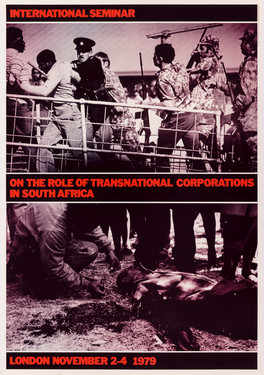 David King, International Seminar on the Role of Transnational Corporations in South Africa, United Nations Centre Against Apartheid, 1979