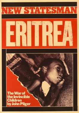 David King, New Statesman Eritrea, 1978. An advertisement for a New Statesman magazine cover story by John Pilger