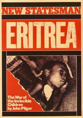 David King, New Statesman Eritrea, 1978. An advertisement for a New Statesman magazine cover story by John Pilger