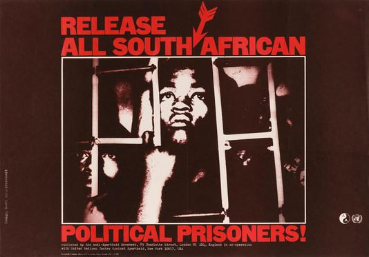 David King/Proletcult, Release All South African Political Prisoners!, Anti-Apartheid Movement, 1977. From a series of four