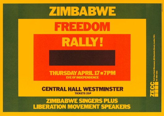 David King, Zimbabwe Freedom Rally!, Zimbabwe Emergency Campaign Committee, Anti-Apartheid Movement, 1980