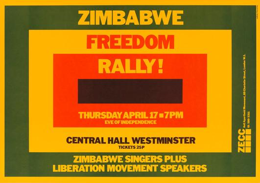 David King, Zimbabwe Freedom Rally!, Zimbabwe Emergency Campaign Committee, Anti-Apartheid Movement, 1980