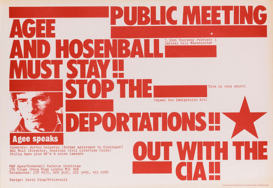David King/Proletcult, Agee and Hosenball Must Stay!, Agee/Hosenball Defence Committee, 1977