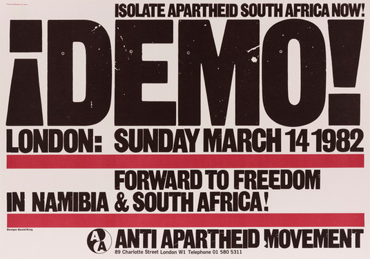 David King, Demo!, Anti-Apartheid Movement, 1982