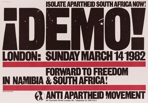 David King, Demo!, Anti-Apartheid Movement, 1982