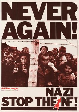 David King, Never Again!, Anti-Nazi League, 1978: Photograph: Galina Sanko, a transfer camp in Petrozavodsk, northwest Russia, 1944 (detail)