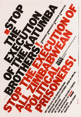 David King, Stop the Execution of the Katumba Brothers!, Zimbabwe Emergency Campaign Committee, Anti-Apartheid Movement, 1979