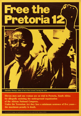 David King/Proletcult, Free the Pretoria 12, Anti-Apartheid Movement, 1977