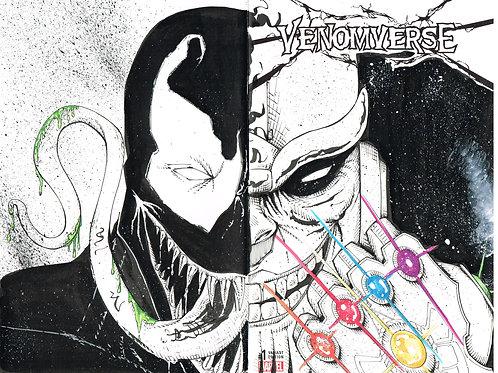 Venom/Thanos w/ Infinity Guantlet - headsketch