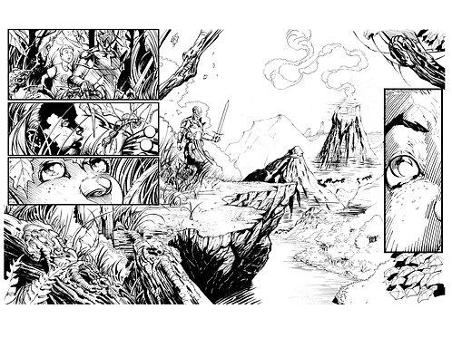 Spellbound #1, Page 10-11 - Inks