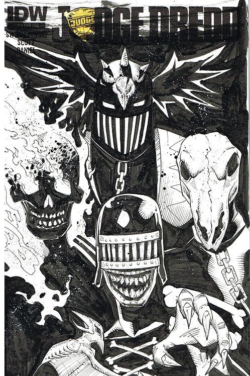 "Judge Dredds ""The Dark Judge"" - bustsketch"