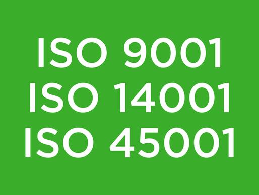 Obtention de 3 Normes ISO