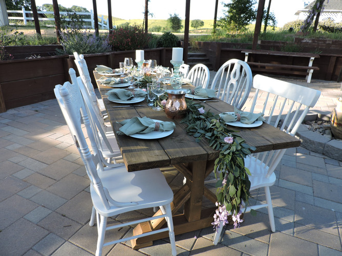Farmhouse Tables w/ Vintage Chairs