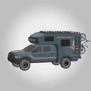 CAD Designed Truck Camper